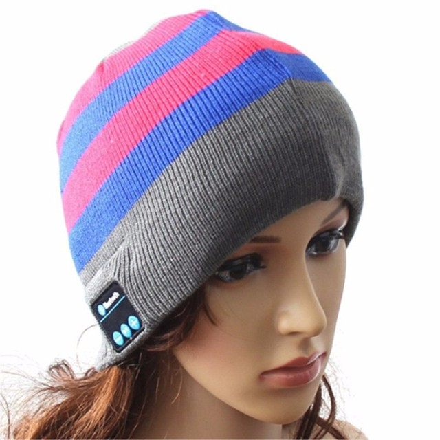 18cba4625a4 Music Hat Earbuds Bluetooth Winter beanie with Headphones Speaker Volume  Control Wireless Washable Cap for iPhone Android Phone