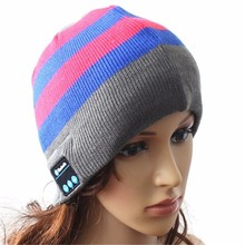 Music Hat Earbuds Bluetooth Winter beanie with Headphones Speaker Volume Control Wireless Washable Cap for iPhone Android Phone