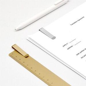 Image 3 - Kaco Metalen Liniaal Bladwijzer Straightedge Opstellen Cartografie Heerser Student Leren School Kantoorbenodigdheden Supplies