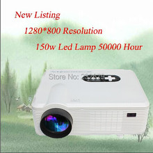 Led Style !! 95% Light Uniformity 2000:1 Contrast Ratio 1280*800 Resolution 16:9 200 Inch Big Screen 3D Led Projector 1080P