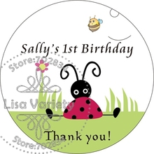 Free Shipping New Paper Custom Sticker for Birthday / Baby Shower,Round Shape,3.8cm,B28