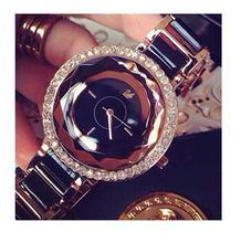 Mujeres de la manera relojes de marca de lujo del diamante reloj mujer Rhinestone Reloj de Vestir Relojes de Pulsera reloj de cuarzo Ocasional Relojes