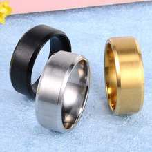 Metal Stainless Steel Wide Rings Sports Male Simple Men silver Jewelry Ring glod Summer Wholesale Business Titanium Boy Gift(China)