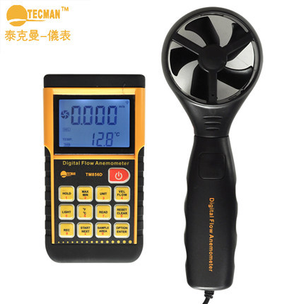 High quality New TM856D storage type wind speed meter lcd digital anemometer wind meter air tester USB Scales soft outdoor lm 81am anemometer meter lutron new lm81am