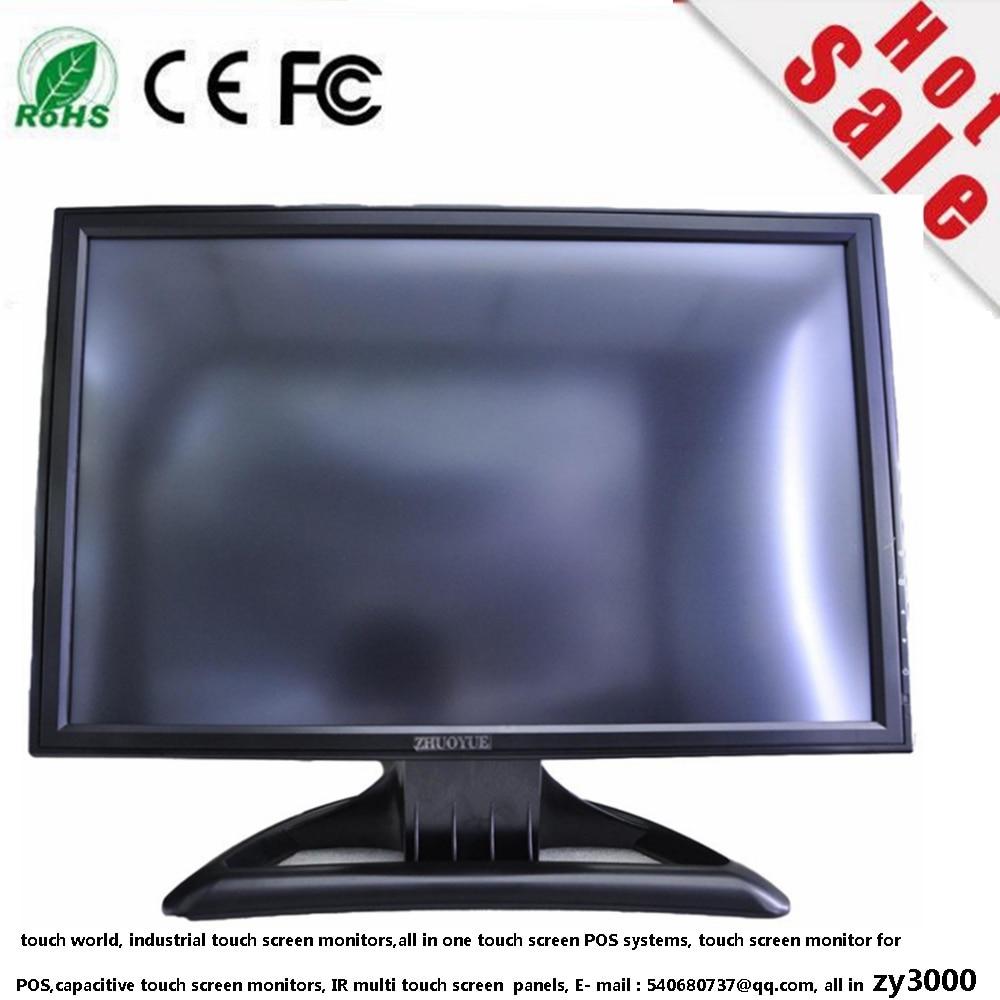 Garantie 1 année pas cher 19 pouce 16:10 1440*900 VGA DVI DC 12 V entrée USB résistif écran tactile moniteur pour pos
