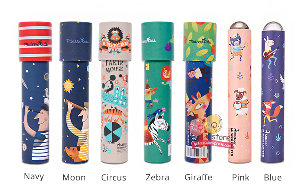MiDeer Montessori Rotating Colorful Kaleidoscope Toy Lens Imaginative Cartoon Children Magic Classic Educational Toys for kids