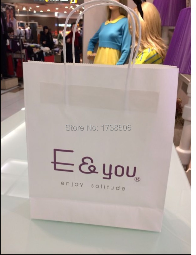 custom printed LOGO gift kraft paper bags/shopping bag/packing bag/hand bags for clothes packaging