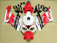 ACE KITS New ABS Injection Fairings Kit Fit For HONDA CBR1000RR 2004 2005 CBR1000RR 04 05 White Red F85