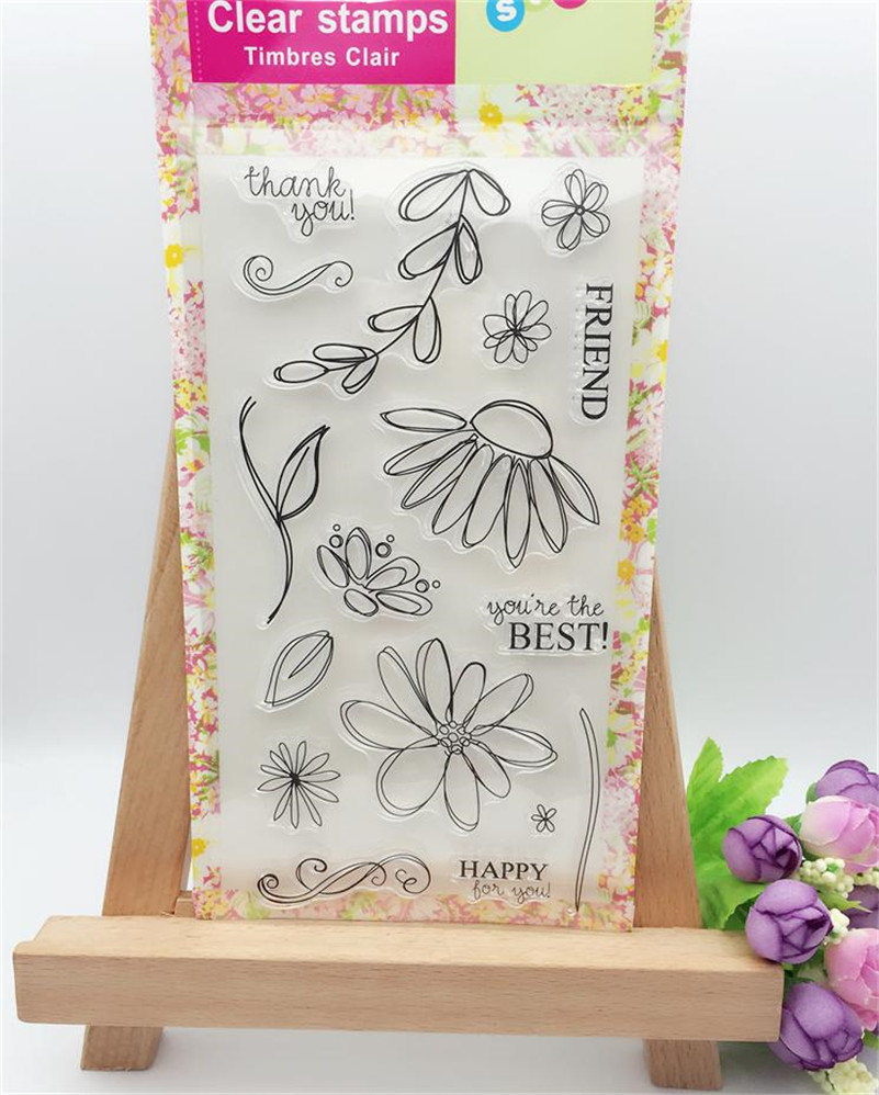 Pure and fresh flowers design Clear Transparent Stamp DIY Scrapbooking paper Card  Christmas gift wedding gift LL-066 lovely animals and ballon design transparent clear silicone stamp for diy scrapbooking photo album clear stamp cl 278