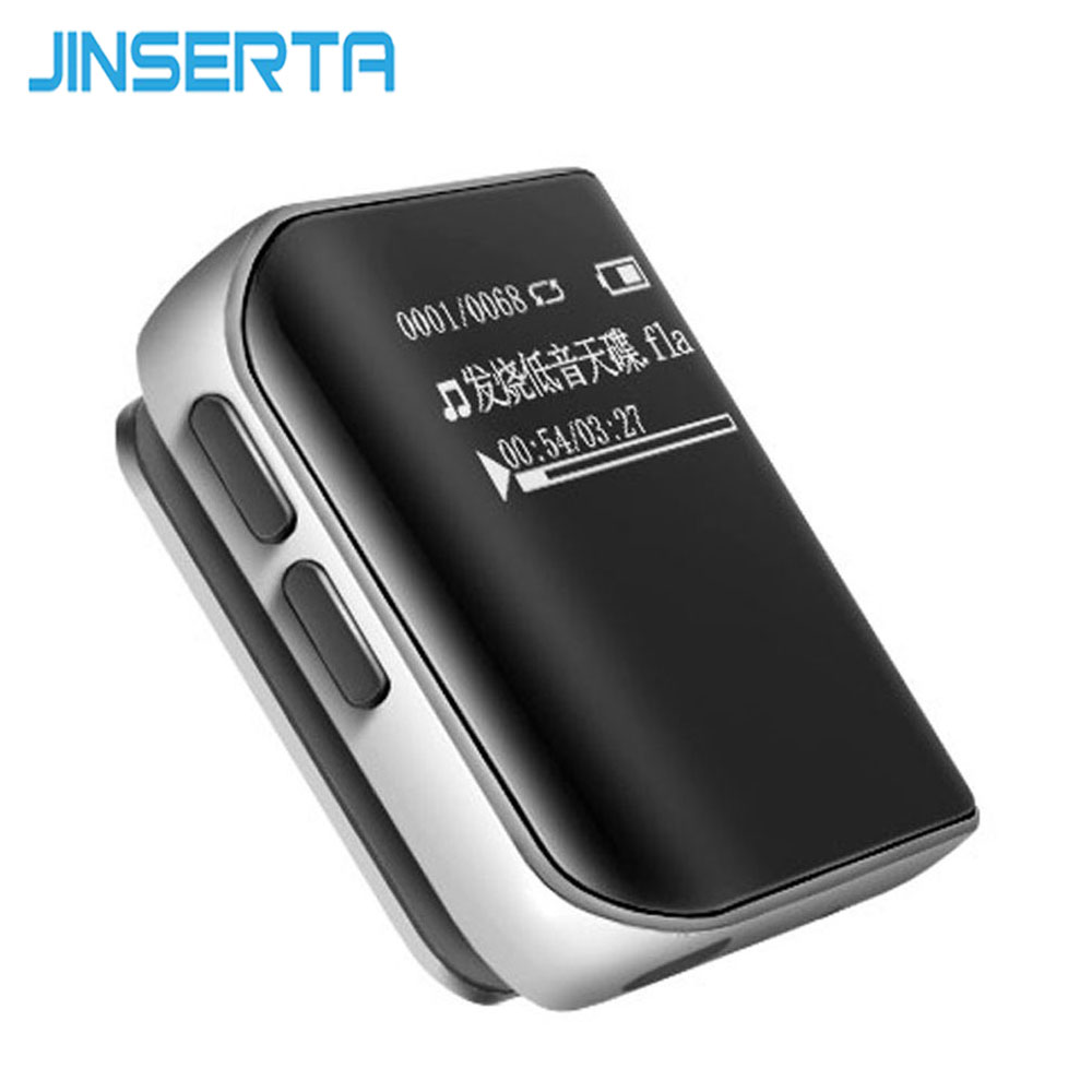 цена на JINSERTA Mini 8GB MP3 Player Clip Sport MP3 Radio FM Player Hifi Stereo MP3 Music player Metal MP3, WMA, APE, FLAC