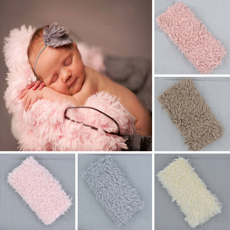 Newborn Photo Props Faux Fur Blanket Baby Photography Backdrops Background Fleece Blanket Swaddle Wraps Bedding Props D20 fotografia newborn photography props blanket letter racks fences photography backdrops background