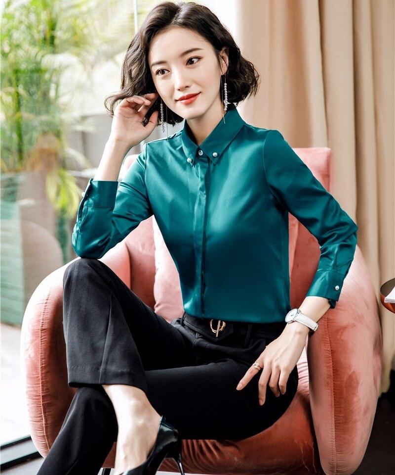 Blusas Y Camisas Formales Para Mujer Pantalones Y Tops Para Mujer Ropa De Trabajo De Manga Larga Blusas Y Camisas Aliexpress