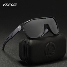 KDEAM Brand Design Oversized Sunglasses Men Big Glasses Frame Windproof Goggles Sports Style Square Shades Male KD139