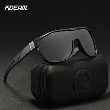 KDEAM Brand Design Oversized Sunglasses Men Big Glasses Frame Windproof Goggles Sports Style Square Shades Male KD139