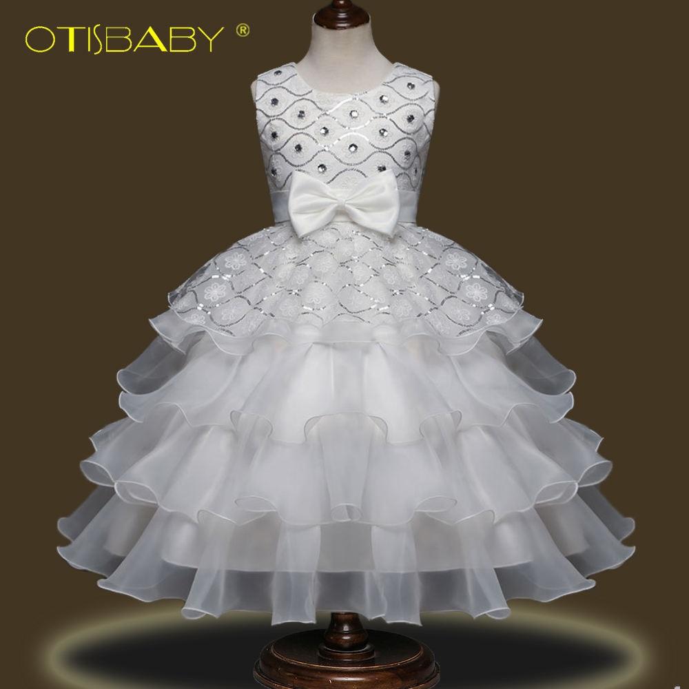 2018 New Year Flower Girl Diamond Tutu Dress Princess Prom Dresses for Girls of 4 6 8 10 12 Years Old Teenage Ballerina Clothing flower girls princess dress new year