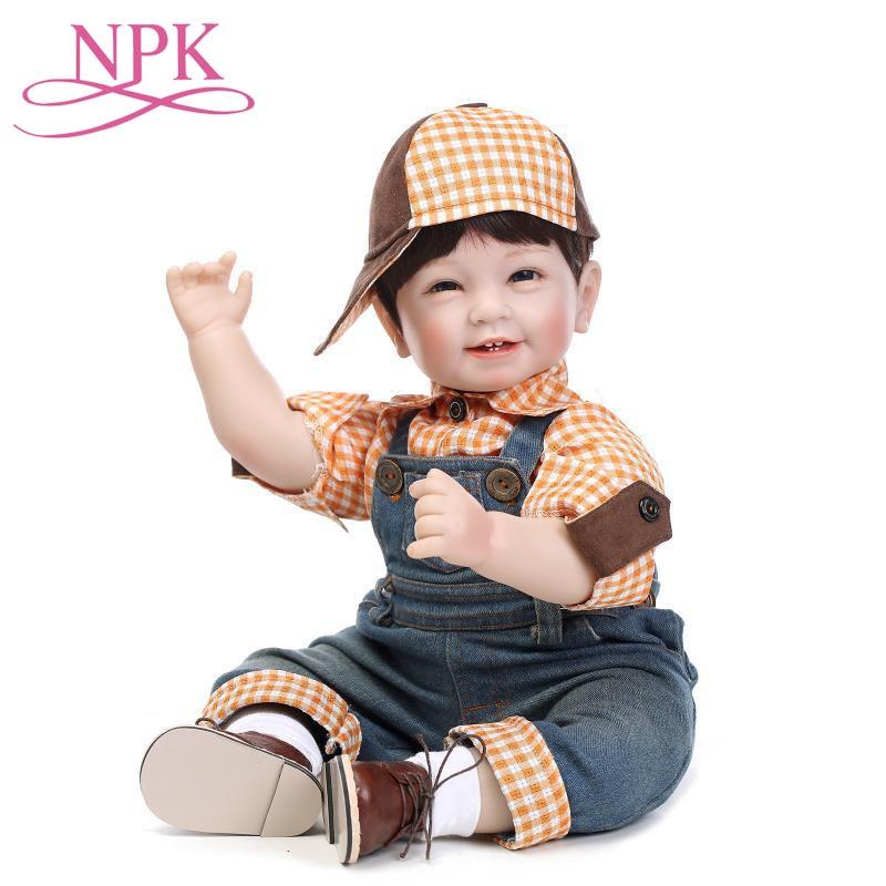 55 CM poupée garçon mignon Reborn 22 pouces Silicone souple Reborn bébé poupées jouets pour enfants cadeau Bebes Reborn Menino Bonecas haute qualité