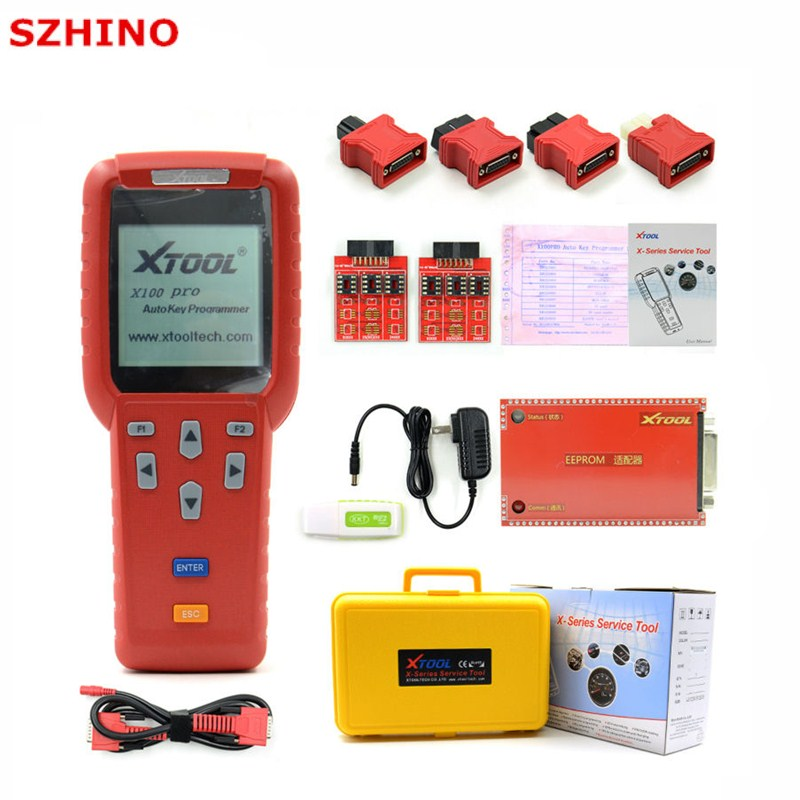 Original XTOOL X100 Pro Auto Key Programmer With EEPROM Adapters support Odometer Mileage adjustment Free Update Online Lifetime ...
