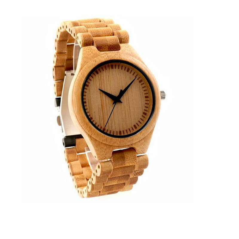 Fashion Natural Bamboo Wood Watch Casual Quartz Watches Clock Relogio Feminino Classic Style wood Strap In Gift Box mance n2 new hot sale fashion casual retro style designer quartz watch denim quartz watches relogio feminino quality gift