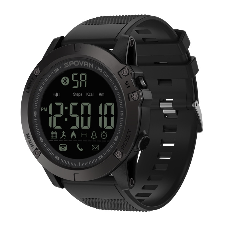 SPOVAN Digital Watch Men's Waterproof Sport Clock Men Barometer Altimeter Thermometer Stopwatch Wrist Watch Relogio Masculino watch men digital watch hours altimeter barometer compass thermometer hygrometer digital pocket watch clock relogio masculino