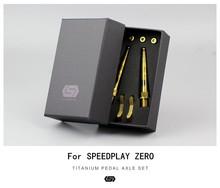 цена на STAN TI Titanium Pedal Axle For SPEEDPLAY ZERO SPD Pedal Shaft With Pedal Cleats