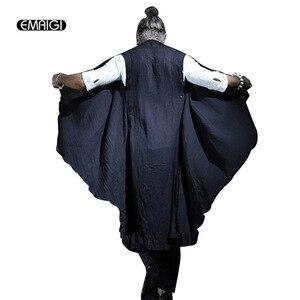 Мужской льняной жилет, Длинный жилет большого размера в стиле ретро, без рукавов, в стиле панк, Q75, для лета