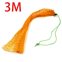 1PC Hot Super Long 3m Thick Wire Made Fishing Net Bag Fish Mesh Protection Pocket Net Fishing Tackle