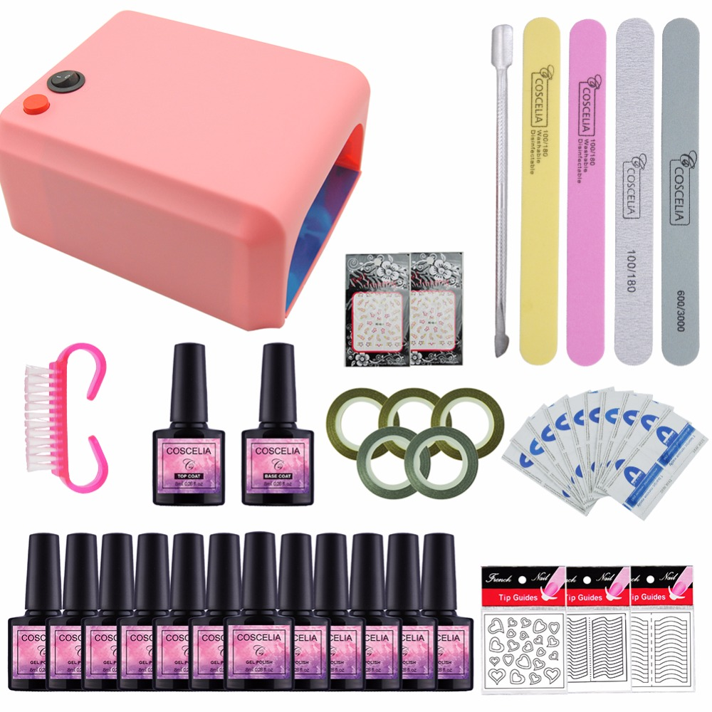 Full Set Nail Art Pro DIY Soak Off Uv Gel Polish