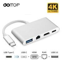 DOITOP 4 In 1 USB C Hub Adapter USB 3 1 Type C To HDMI 4K