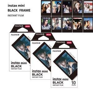 Image 3 - 30 ورقة حقيقية فوجي فيلم Instax فيلم إطار أسود صغير ل لحظة صغيرة 11 ، 7s ، 8 ، 90 ، 70 ، 25 ، 50s ، كاميرا فوتوغرافية SP 1/2