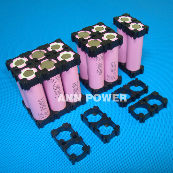 Free Shipping 100pcs 18650 Battery 2p Holder Safety Anti