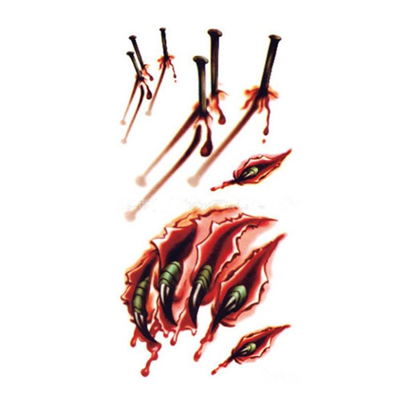 027 Nuevo Listado De Pegatinas De Tatuaje Temporal Ensanchado De Halloween Uñas Y Garras 10x6cm In Tatuajes Temporales From Belleza Y Salud On