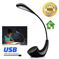 ArtPad Modern Desk Lamp 3 Levels Dimmable Eyecare Reading LED Desk Light Touch Control Rechargeable USB Table Lamp Black White
