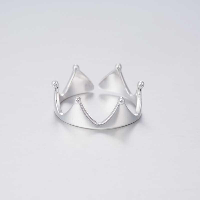 SMJEL Baru Secara Terbuka Kekaisaran Princess Crown Rings untuk Wanita Pernikahan Crown Knuckle Ring Bridesmaid Hadiah Partai Perhiasan SYJZ095
