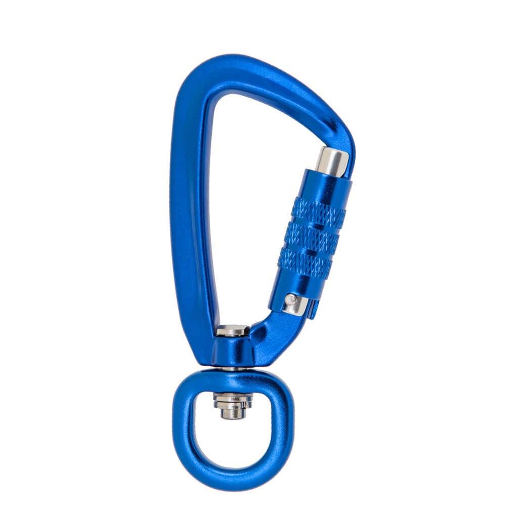 Mosquetón de bloqueo automático de 500KG con anillo giratorio para escalada al aire libre mochila llavero correa para mascotas gancho 4 colores