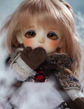 Flash sale!free makeup&eyes!top quality bjd 1/8 baby doll The Snow Queen ver. Lea [Gerda] hot toy kids best gift recast image