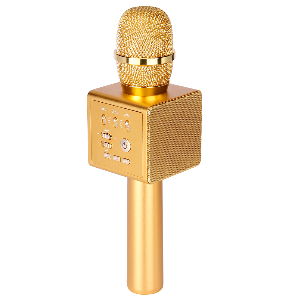 The Best New Karaoke Microphone Bundle Bluetooth V4.0 Dual Speaker Handheld 2in1 Consumer Electronics