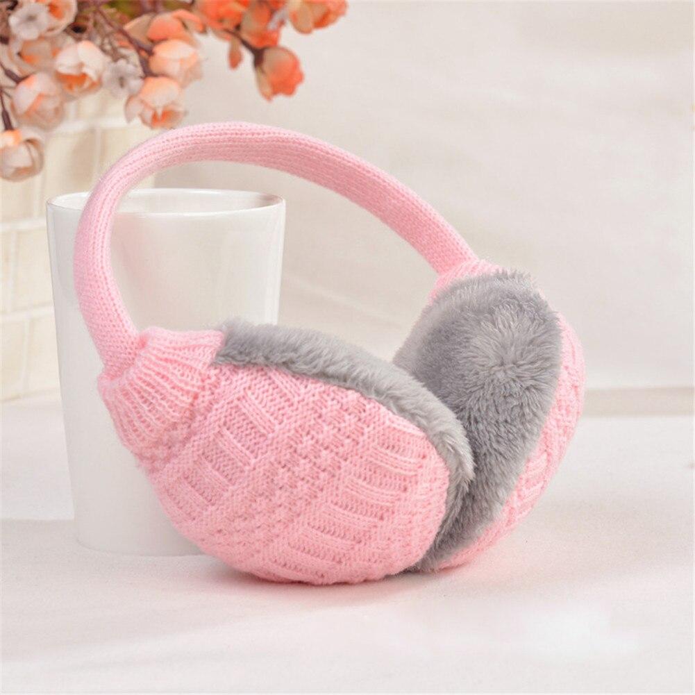 YJSFG HOUSE Winter Ear Cover Women Warm Knitted Earmuffs Ear Warmers Ladies Girls Plush Ear Muffs Earlap Warmer Headband Earmuff
