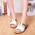 Women Sandals Wedges Slippers Leather Slides Flat Sandals Beach Slippers Brand Women Summer Shoes Sandalias