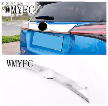 Car-styling ABS Chrome Rear Trunk Lid Cover Molding Trim Fit For New Toyota RAV4 2016 20172018 Modified auto accessories image