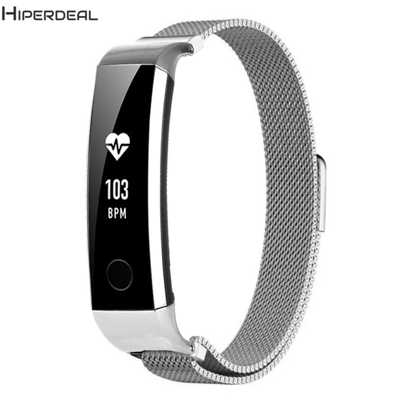 4 Colors Milanese Stainless Steel 200mm Smart Watch Quick Release Kit Band Strap For Huawei Honor 3 Smart Band 2018 JA15b