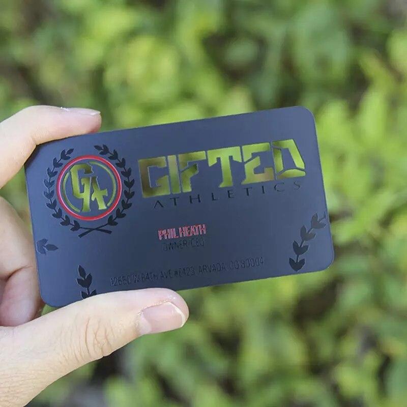 Black Stainless Steel Metal Business Card