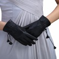 URSFUR Gloves Solid Adult Mittens Real Genuine Leather women new dress show autumn winter Full Finger Driving Glove Breathable