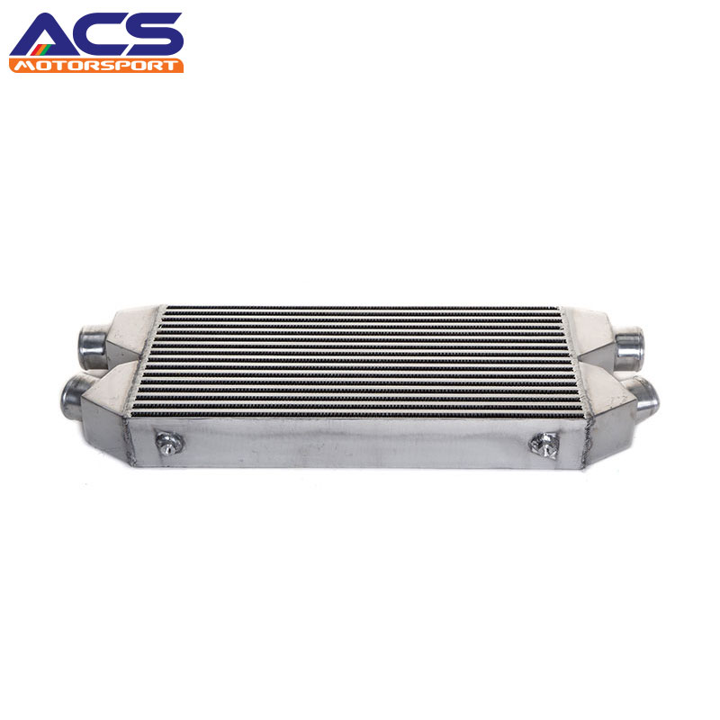 Universal FRONT MOUNT INTERCOOLER 560x280x76mm 2.5 inch Twin Inlet/outlet epman universal aluminum water to air turbo intercooler front mount 250 x 220 x 115mm inlet outlet 3 5 ep sl5046d