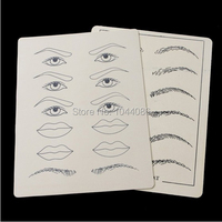 5 Sets 2 Sheets Set High QUALITY Synthetic Flexible Eyebrow Lips Tattoo Designs Practice Fake
