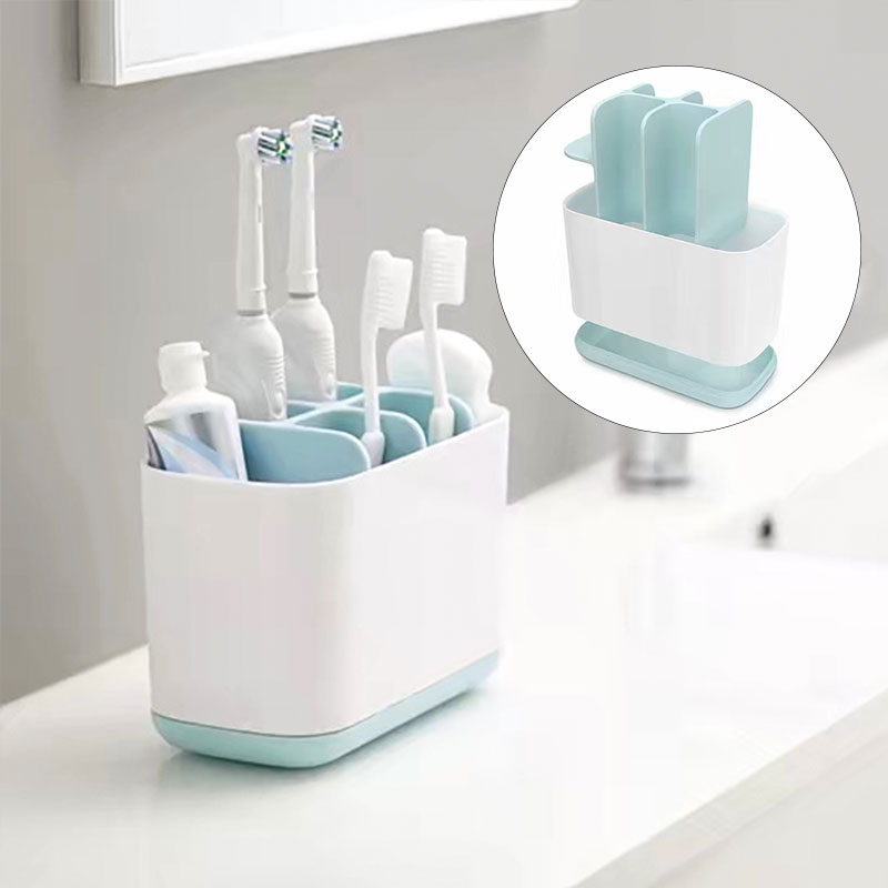 Toothpaste Holder Electric Toothbrush Color Convenient Storage Box Removable Bathroom Toothpaste Organizer image