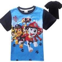2016 Summer New Kids T-shirt 100% Cotton Paw Dog Clothes Children Clothing Boys T Shirt O-neck Short Sleeve For Boy Tops patrol