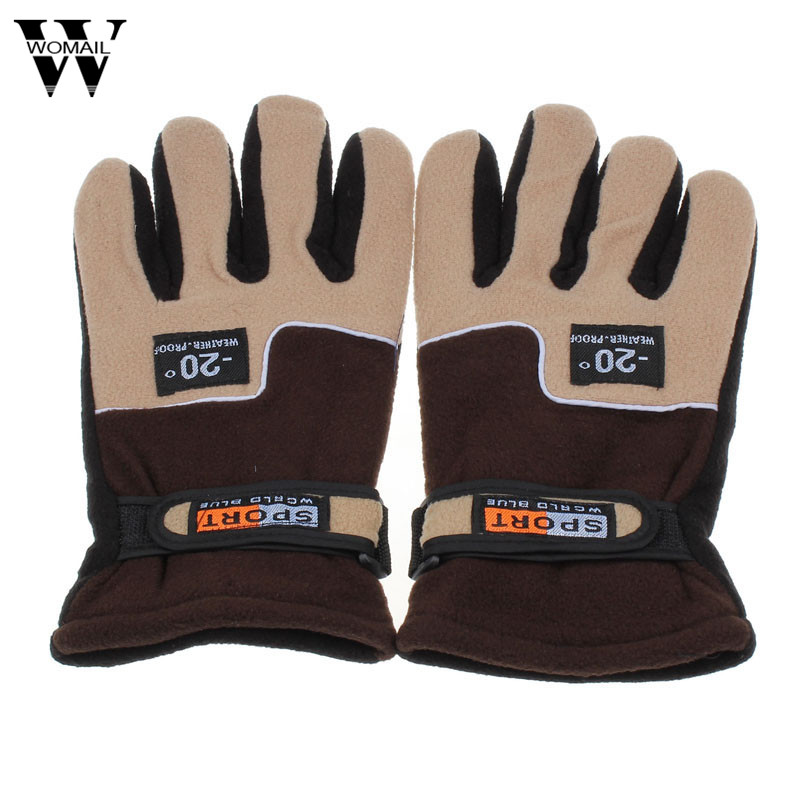 2018 Windproof Men Thermal Winter Motorcycle Ski Snow Snowboard Gloves