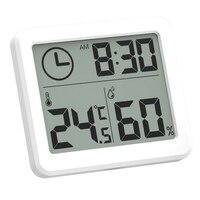 Medidor eletrônico grande do hidrômetro do termômetro do lcd do relógio da umidade da temperatura de digitas com suporte Instrumentos de temperatura     -