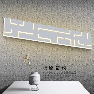 Простые современные светодиодный бра мода акриловые зеркало настенные светильники для дома Освещение в помещении Ванная комната лампа
