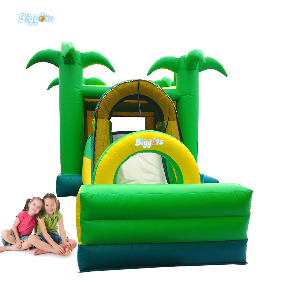 Sea Shipping Jungle Inflatable Slide Jumper Combo Bouncer Bouncy Castle Slide With En71 Certification  yard dhl free shipping inflatable bouncer bouncy jumper colorful castle with long slide for kids